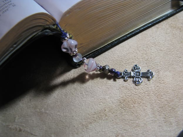Finished Beaded Bible Bookmark