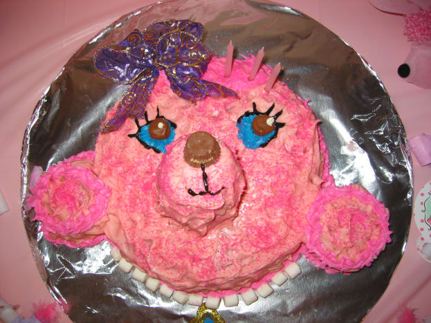 Pink Poodle Cake for Home Party