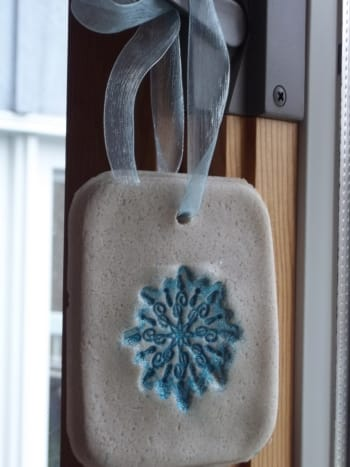 Embossed ornament.