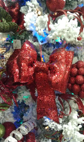 Bows used for christmas decorations
