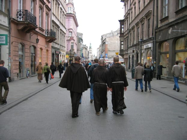 Monks in Kraków