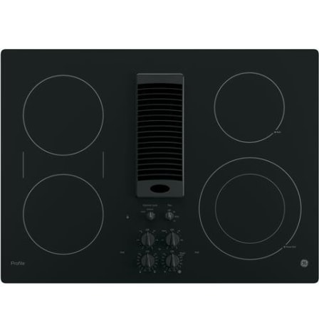 The GE PP9830DJBB Downdraft Electric Cooktop