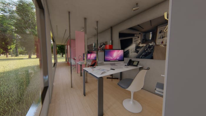 40-foot container office (view 1).