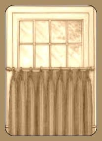 Traditional cafe curtain
