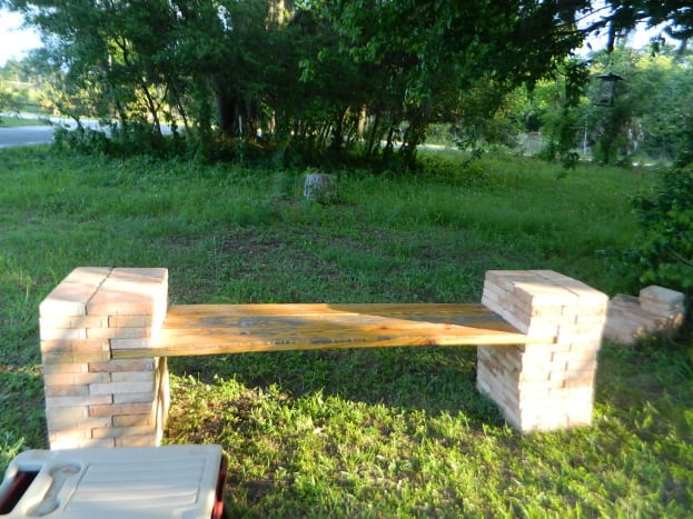 Another peek at the finished bench.