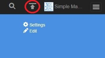 The upload button is located to the left of your archive.org avatar.