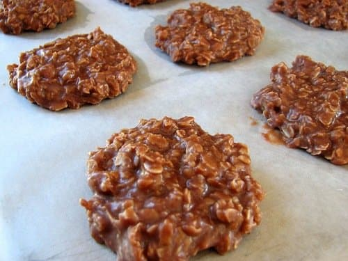 These are famous no bake chocolate oatmeal cookies.