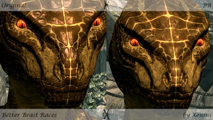 """""""Better Beast Races v2"""" before and after."""