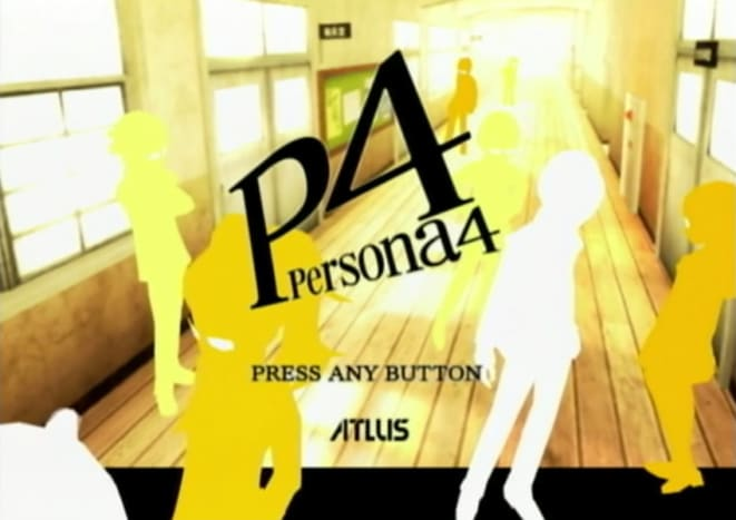 Persona 4 title screen.