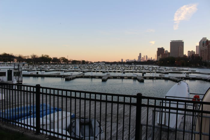 One of the many harbors along Lake Michigan; this one in particular is Montrose Harbor. It's just a marina in real-life.