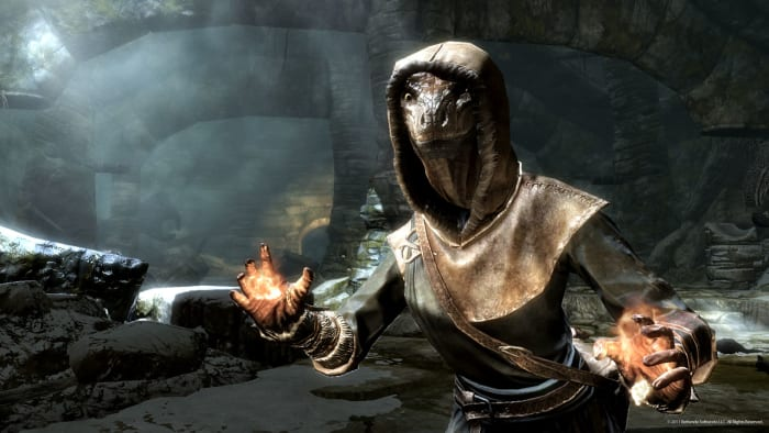 """Skyrim"" has a robust character creation system that gives you tremendous control over your character's appearance and abilities."