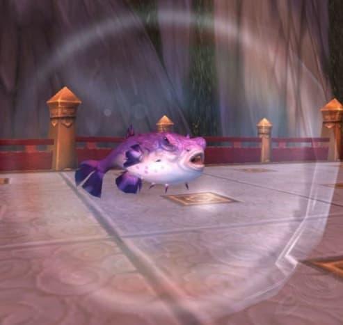 Purple Puffer Battle Pet