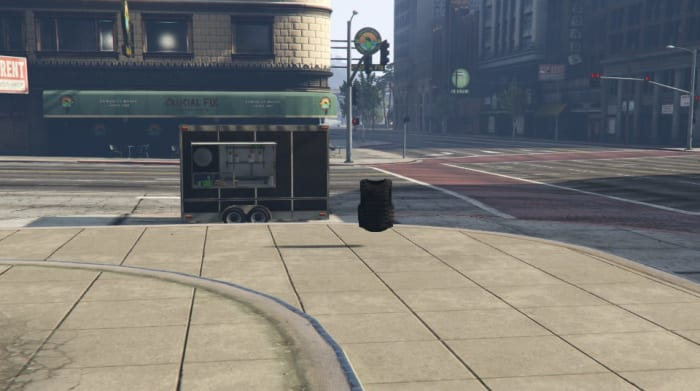 This is the closest Body Armor spawn point to the Hotdog Stand.
