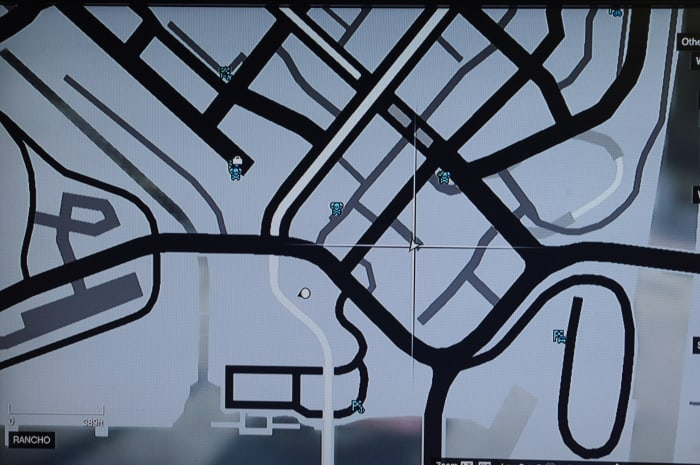 Start the mission here on the map. The parking lot where Vagos gang cars spawn.