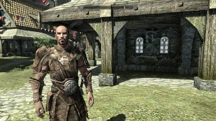 "Vanilla ""Skyrim"" Guard armour."