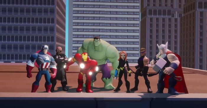 "The Marvel team is here to save the day in ""Disney Infinity: Marvel Super Heroes."""