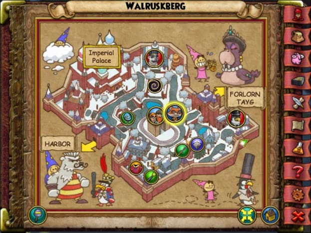 The Walruskberg Polar Rose is to the right side of the Inn of the Midnight Sun.
