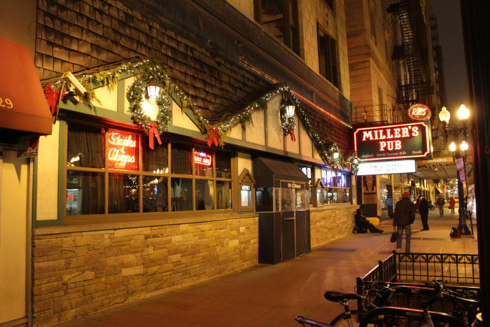 Miller's Pub in December of 2015. Yes I did have a beer while I was here.