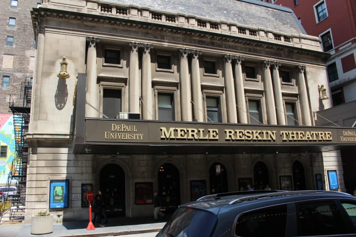 The Merle Reskin/Blackstone Theater. Picture taken in May 2016.