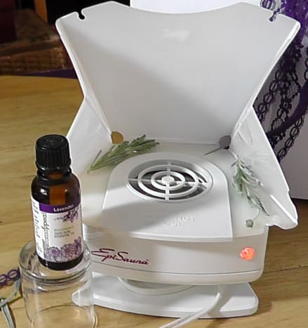 A few drops of lavender oil in a steam facial is relaxing.