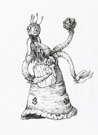 A depiction of one of Lovecraft's Yith
