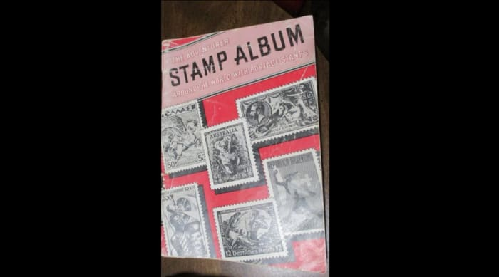 My mother's stamp collection book
