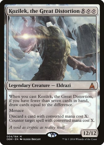 Kozilek, the Great Distortion mtg