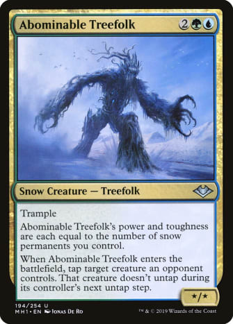 Abominable Treefolk mtg