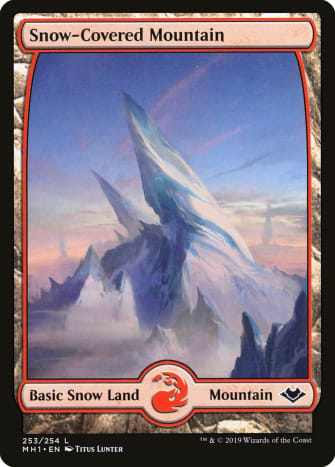 Snow-Covered Mountain mtg