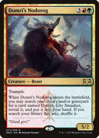 Domri's Nodorog mtg