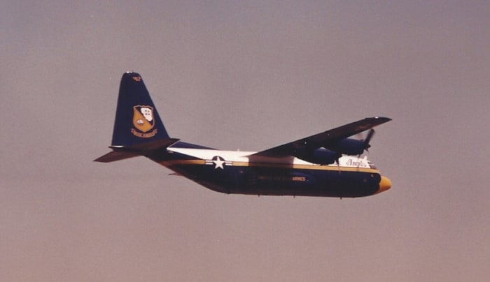 Fat Albert during a Flight Demonstration at Andrews AFB, MD