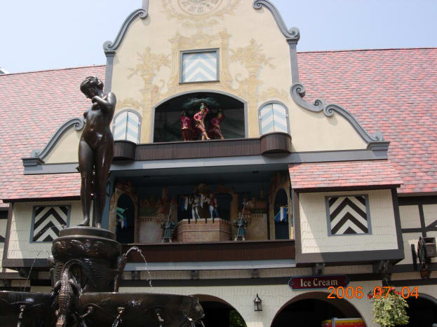 "In the ""Germany"" section of Busch Gardens."