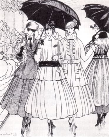 1915 fashion plate from La Gazette du Bon Ton.