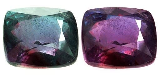 Lovely hues of green and purple in polished stones.