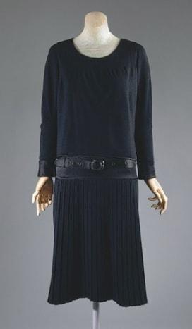 1927 wool jersey little black dress designed by Chanel