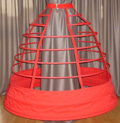 A cage crinoline.