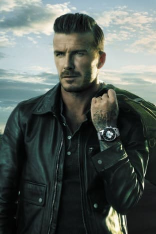Beckham in a Breitling watch (from a commercial).