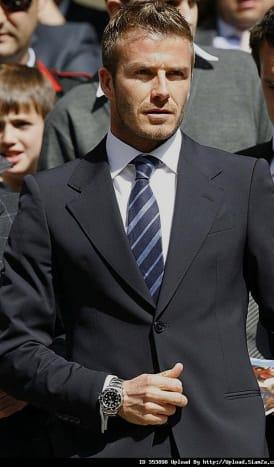 Beckham in his Rolex.