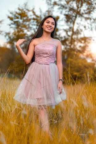 More formal floral and flirty dresses are great for a summer daytime wedding.