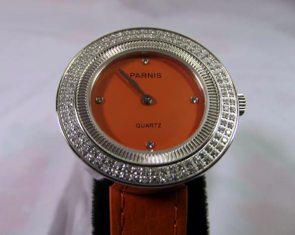 Parnis Orange 33mm quartz women's watch