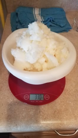 Weigh your coconut oil.