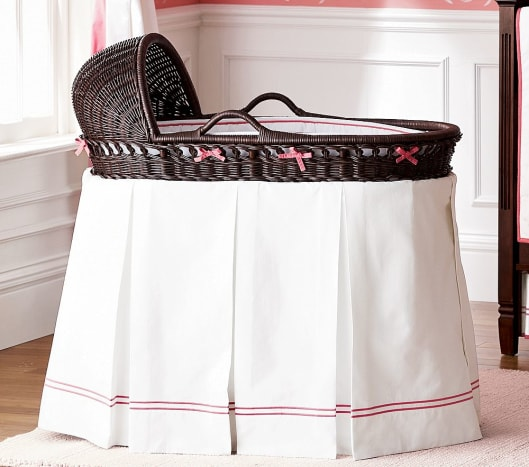 The perfect bassinet from PotteryBarn Kids.  Sturdy, hidden storage, chic, vintage look, modern style.  www.potterybarnkids.com