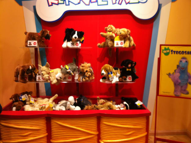 A Few of Build A Bear's Animals