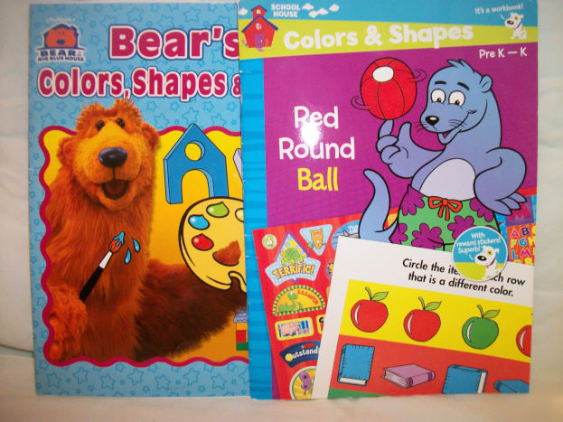 Activity Books for learning colors