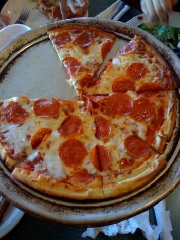 Gluten-free pizza.