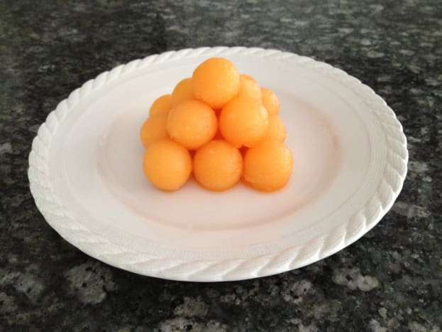 Cantaloupe cannonballs