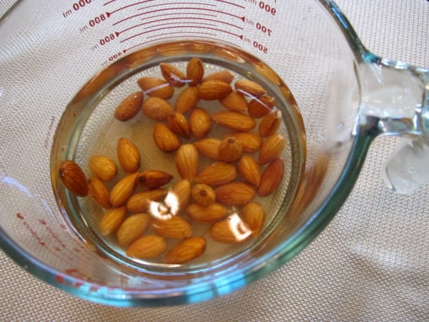 Soak almonds overnight.