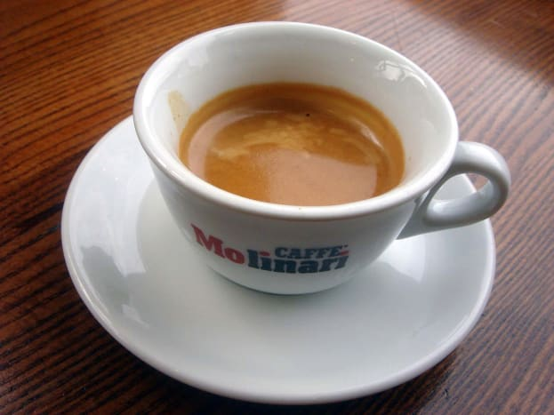 Espresso is usually served in small cups