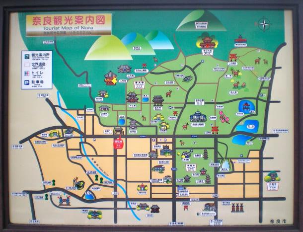 world's best tourist map, Nara (c) A Harrison