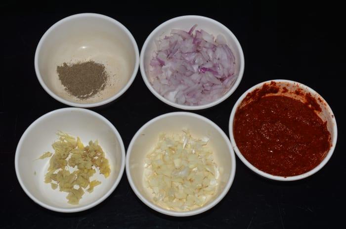 Keep ingredients ready.
